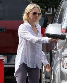 Exclusive... Braless Naomi Watts Getting Gas In Santa Monica